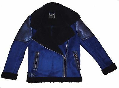 Girls' warm jacket coat faux shearling 11-12 years Next