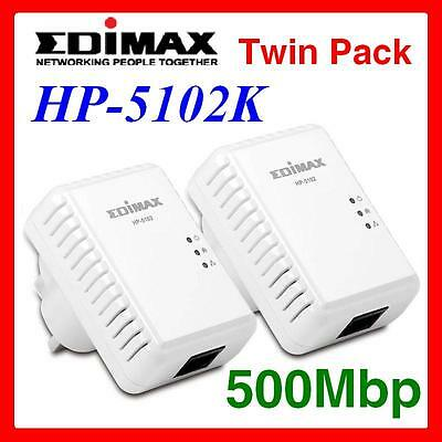 EDiMAX HP-5103K 500Mbps PowerLine Kit / Ethernet over Power / Twin Pack
