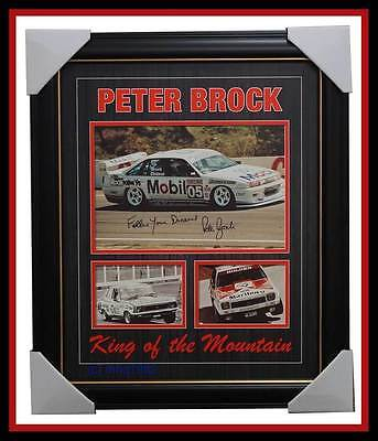 Peter Brock Signed Holden Photo Collage Framed with Number #5 - GREAT GIFT IDEA