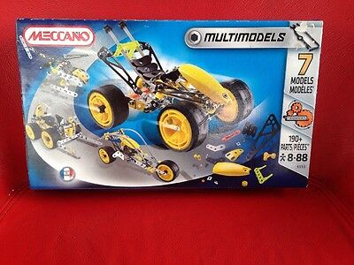 Meccano Multi Builds 7 Models 4550 - Brand New