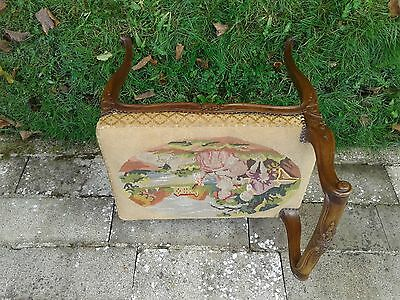 French vintage dressing table or piano chair