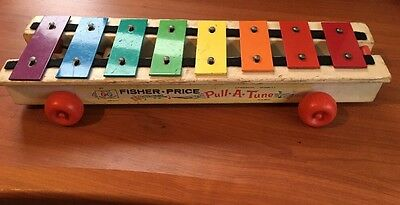 Vintage Fisher Price Pull-A-Tune Xylophone 1964