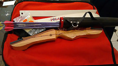 child's recurve bow and accessories