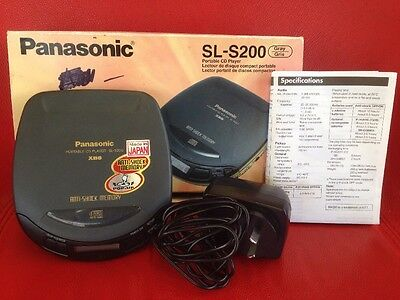 Panasonic SL-S200 Personal CD Player With Power Supply