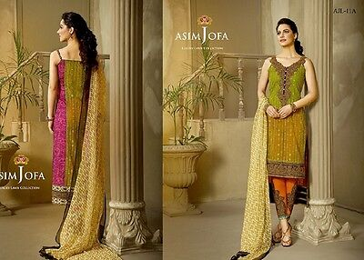 Asim Jofa 3pcs Unstitched Suit - AJL-11A