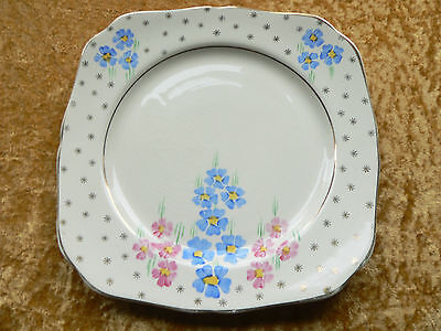 H & K Tunstall China Plate, hand painted Flower design