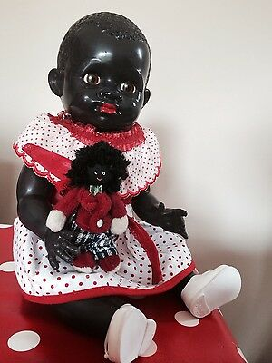 "Wonderful Pedigree 14"" black hard plastic doll vintage rare"