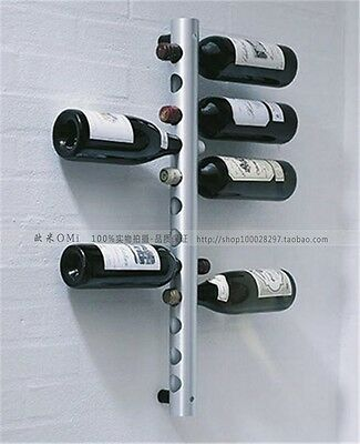 STYLISH 1 pc Stainless Steel Wine Rack Bar Wall Mounted Kitchen Holder 1 info