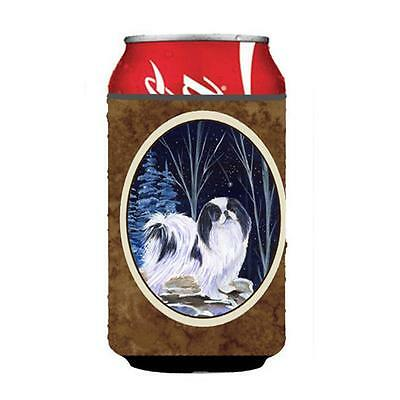 Starry Night Japanese Chin Can Or bottle sleeve Hugger 12 oz.
