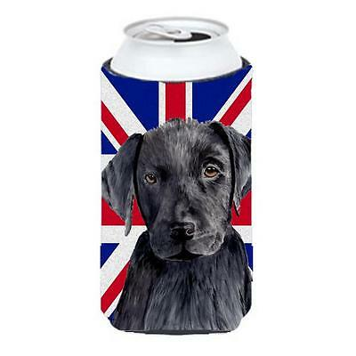 Labrador With English Union Jack British Flag Tall Boy bottle sleeve Hugger 2...