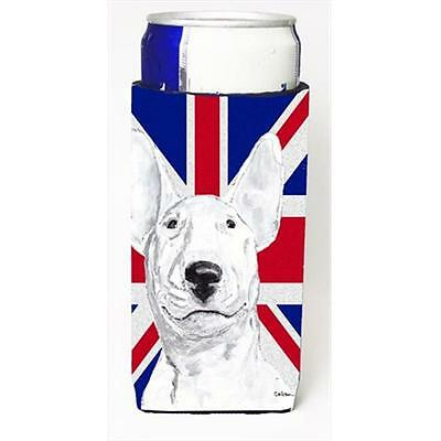 Bull Terrier With English Union Jack British Flag Michelob Ultra bottle sleev...