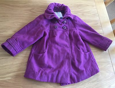 Girls Purple Vertbaudet Coat Size 3 Years