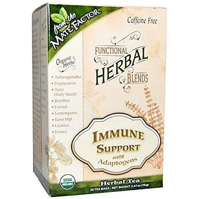 Functional Herbal Tea Blends Immune Support with Adaptogens 20 Tea Bags