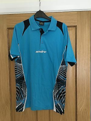 Andro Table Tennis Shirt Sky Blue size Small