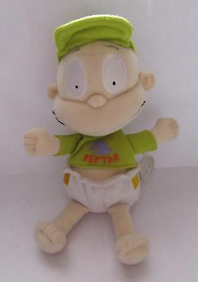 """Rare Tommy Pickles In Reptar Outfit Rugrats Plush 9"""" Beanie Soft Toy"""
