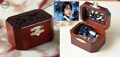 Octagon  Wood Carving Music Box  : Harry Potter  Theme Soundtrack