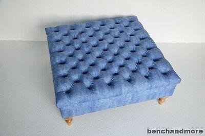 Ottoman Footstool Chesterfield Deep Buttoned Storage In Your Own Fabric