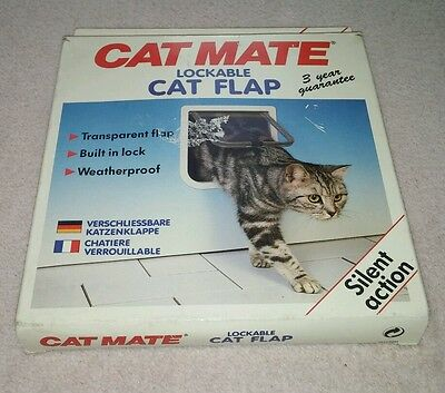 Cat Mate Lockable Cat Flap Boxed & Complete In very good condition