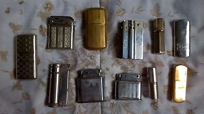 lot de 11 ancien briquet a essence art deco  antique vintage lighter