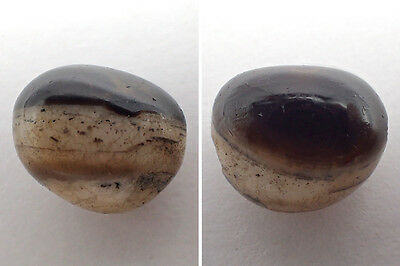 RARE Ancient Natural GOAT EYE Agate Bead Afghani Thick Talisman Amulet#4510