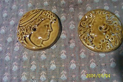 antique cast iron  parlor stove tile reproductions from originals brown 2 5/8