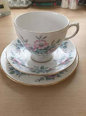 Colclough trio, cup, saucer and plate china set very pretty, stunning