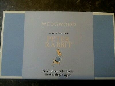 Peter rabbit silver plated rattle