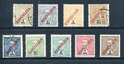 Portuguese INDIA 1911 Short set MH and three used