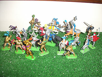 Britains Medieval Knights mounted and on foot