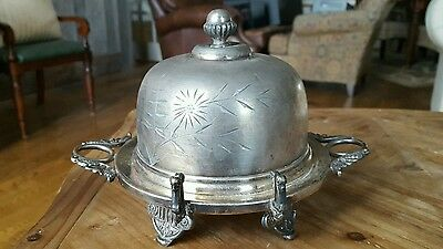 Hartford Silver Plate Co.  Dome Covered Butter Dish