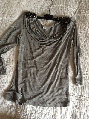 123 T-shirt Epaules Sequins Taille 34-36