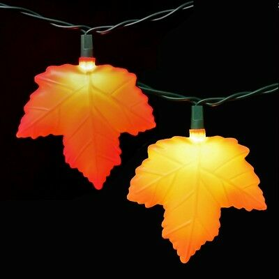 Pretty Fall Thanksgiving halloween Plastic Maple Leaves String LIghts Leaf
