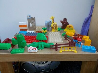 Lego Duplo number 1 with animal etc