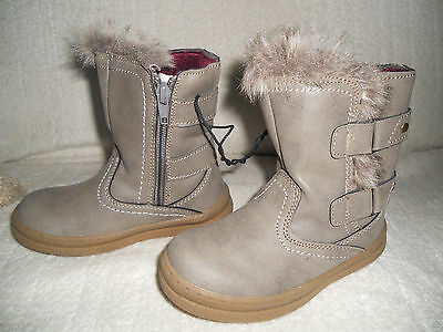 LUPILU Kids Boots NEW Size UK8 EU26 Brown Grey BNWT