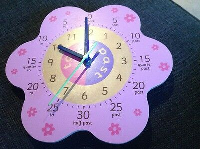 ELC learn to tell the time wooden wall clock