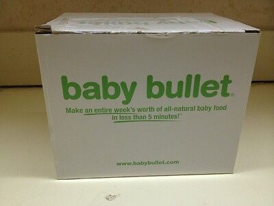 Magic Bullet Baby Bullet Extra Week Storage Set BBM-U0405 Serving Cup Tray-NEW
