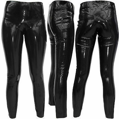 Raben schwarze Latex Leggings / Rubber Pants / Gummihose / Hose Gr. M/L