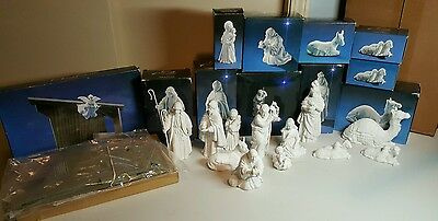 11 Pc Set Avon Nativity Collectibles Porcelain Vintage Christmas SHIPS FREE