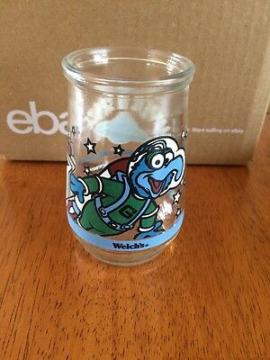 MUPPETS IN SPACE -Welch's GLASS  Jelly Jar- 1998