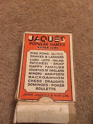 Happy Families Vintage Card Game Jaques Popular Full Pack