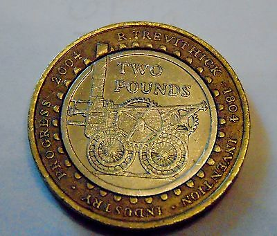 R Trevithick £2 coin