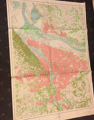 Large Portland Vancouver & Vicinity, Oregon Geological Survey Map