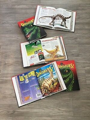 Large Bundle Job Lot Of Dinosaur Magazines In Binders Part Works With T Rex