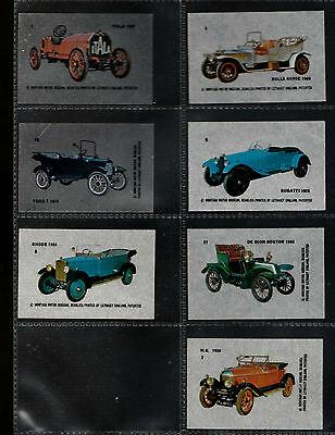 TEXACO 1990s INTRIGUING ( MOTOR CARS ) 7 x TRANSPARENCIES ( FAMOUS CARS )