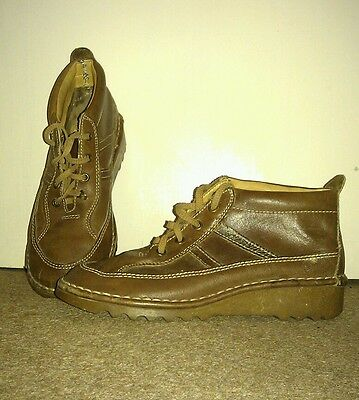 Womens Vintage Dolcis Sports Girl Brown Leather Shoes Size 6