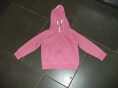 Girls Next Age 4 Coat With Hood Hoody  Pink Zip Front And Pockets Little Use