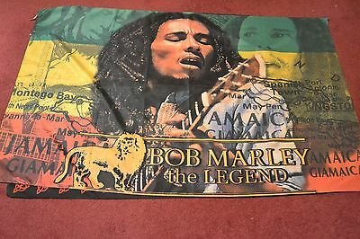Bob Marley     Flag Poster    Large   Textile Material      Free Postage