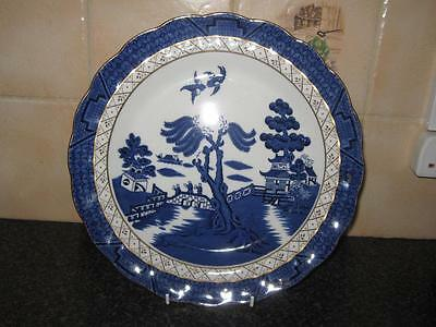 """A8025 Booths REAL OLD WILLOW 10 1/2"""" DINNER PLATE gilted,scalloped edges 2 avail"""