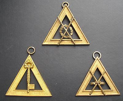 Masonic  3 Royal Arch Officers Collar Jewels