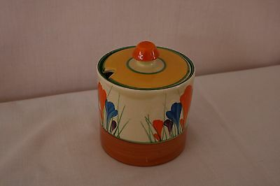 Clarice Cliff Preserve Pot Genuine Crocus Pattern